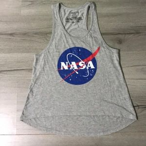 Gray Nasa Tank Top